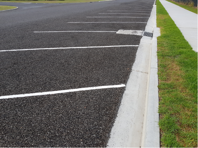 ADA parking lot and curb in Gainesville, Florida