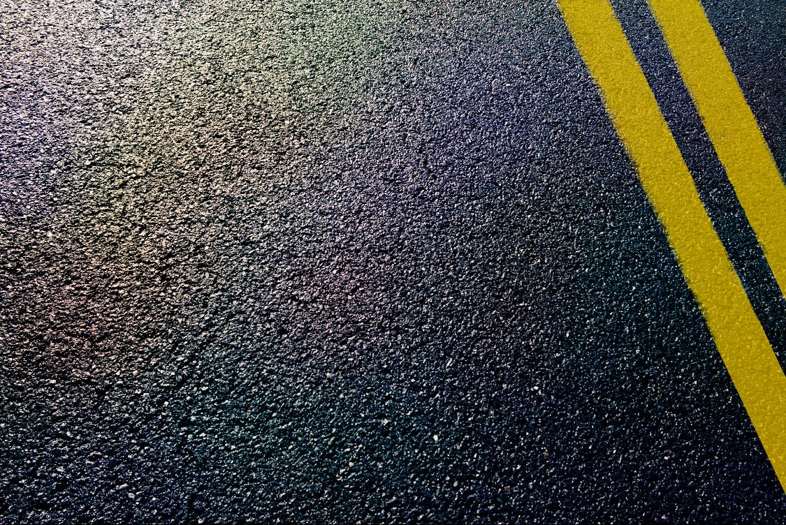 Paved asphalt road surface in St. Augustine, Florida